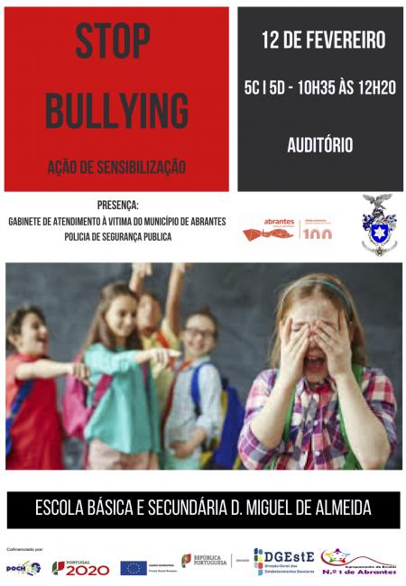 Cartaz Sessão STOP Bullying - 2ª sessão EBSDMA